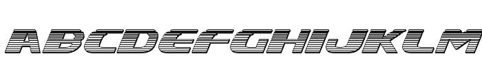 Xcelsion Chrome Italic Italic Font LOWERCASE