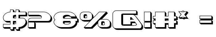 Xcelsion Deep 3D Font OTHER CHARS