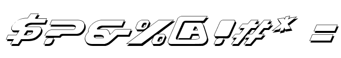 Xcelsion Shadow Italic Font OTHER CHARS