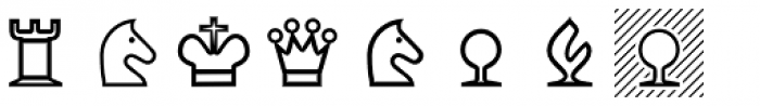 XChessNut Font OTHER CHARS