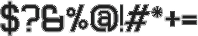 Xelo Fill Outline otf (400) Font OTHER CHARS