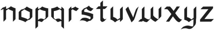 Xenoblock Gothic Regular otf (400) Font LOWERCASE