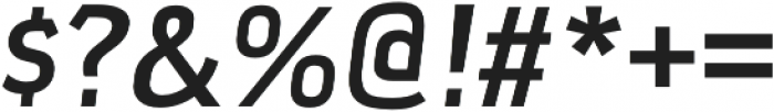 Xenu Bold Italic otf (700) Font OTHER CHARS