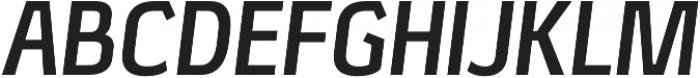 Xenu Bold Italic otf (700) Font UPPERCASE