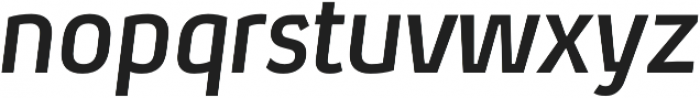 Xenu Bold Italic otf (700) Font LOWERCASE