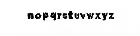 Xerox Font LOWERCASE