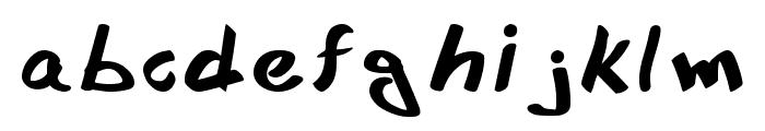 Xee Rough Font Regular Font LOWERCASE