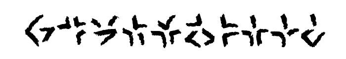 XenoTribalBB Font OTHER CHARS