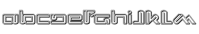 Xephyr Engraved Font UPPERCASE