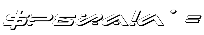 Xephyr Expanded Shadow Italic Font OTHER CHARS