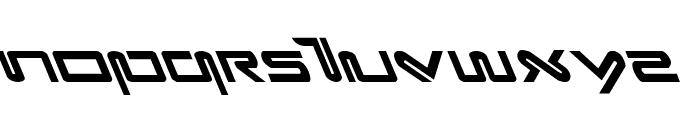 Xephyr Leftalic Font UPPERCASE