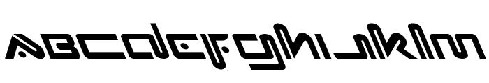 Xephyr Leftalic Font LOWERCASE