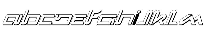 Xephyr Shadow Italic Font UPPERCASE