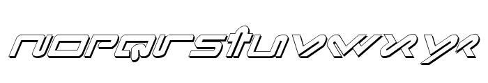 Xephyr Shadow Italic Font LOWERCASE