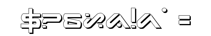 Xephyr Shadow Font OTHER CHARS