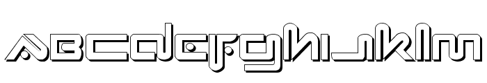 Xephyr Shadow Font LOWERCASE
