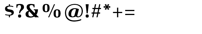 Xenois Serif Bold Font OTHER CHARS