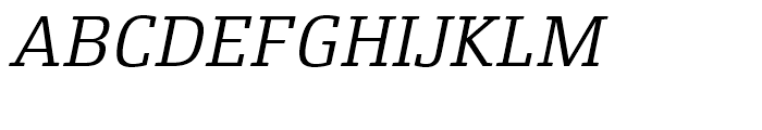 Xenois Slab Italic Font UPPERCASE