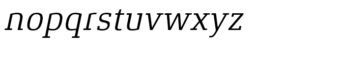 Xenois Slab Italic Font LOWERCASE