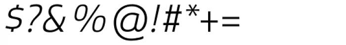 Xenois Sans Pro Light Italic Font OTHER CHARS