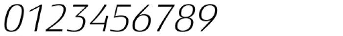 Xenois Semi Pro Light Italic Font OTHER CHARS