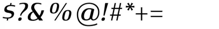 Xenois Semi Pro Medium Italic Font OTHER CHARS