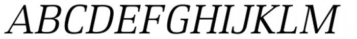 Xenois Serif Pro Italic Font UPPERCASE
