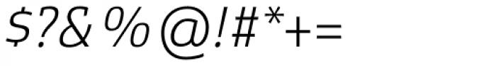 Xenois Slab Light Italic Font OTHER CHARS