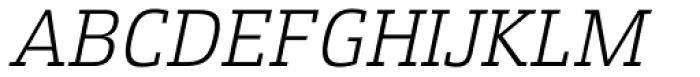 Xenois Slab Light Italic Font UPPERCASE