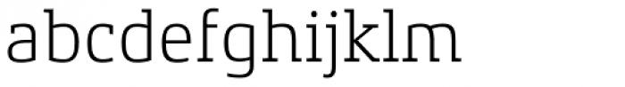 Xenois Slab Light Font LOWERCASE
