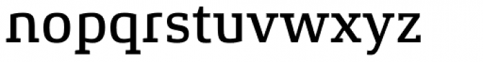 Xenois Slab Medium Font LOWERCASE
