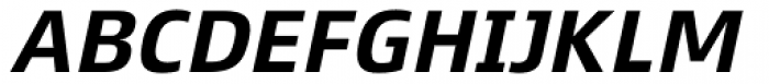 Xenois Super Bold Italic Font UPPERCASE