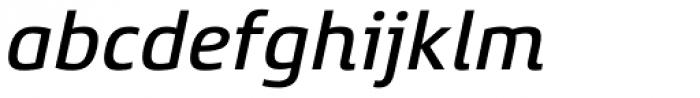 Xenois Super Medium Italic Font LOWERCASE