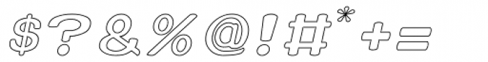 Xero Hollow Italic Font OTHER CHARS