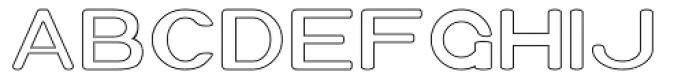 Xero Hollow Font UPPERCASE