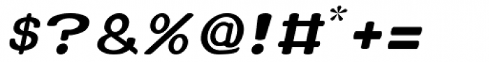 Xero Italic Font OTHER CHARS