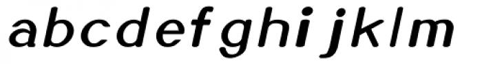 Xero Italic Font LOWERCASE