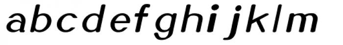 Xero Thin Italic Font LOWERCASE