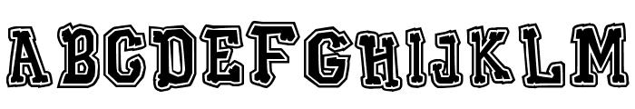 Xilo Galdino Outline Font LOWERCASE