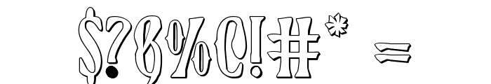Xiphos 3D Font OTHER CHARS