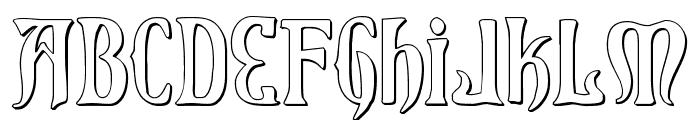 Xiphos 3D Font UPPERCASE