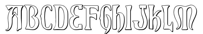 Xiphos 3D Font LOWERCASE