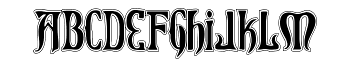 Xiphos College Font UPPERCASE