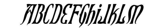 Xiphos Condensed Italic Font UPPERCASE