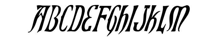 Xiphos Condensed Italic Font LOWERCASE