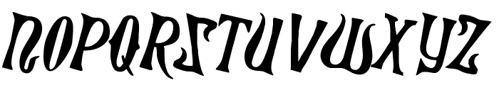 Xiphos Counter-Rotated Font UPPERCASE