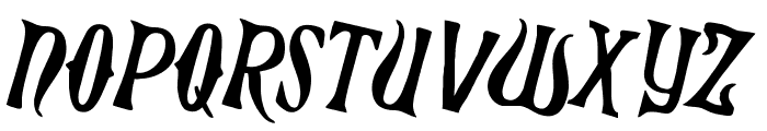 Xiphos Counter-Rotated Font LOWERCASE