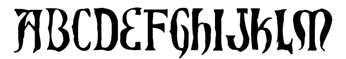 Xiphos Horror Font LOWERCASE