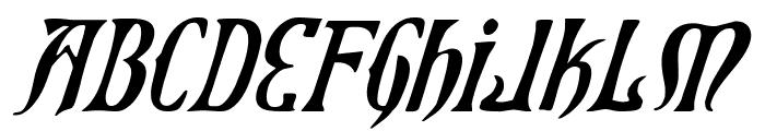 Xiphos Italic Font UPPERCASE