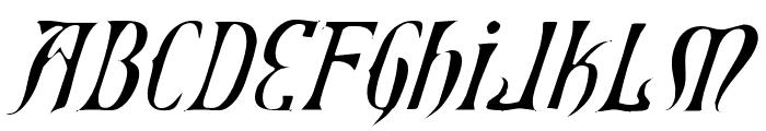 Xiphos Light Italic Font UPPERCASE